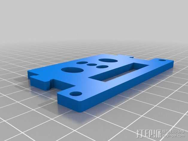 GoPro Hero2相机常平架顶板 3D打印模型渲染图