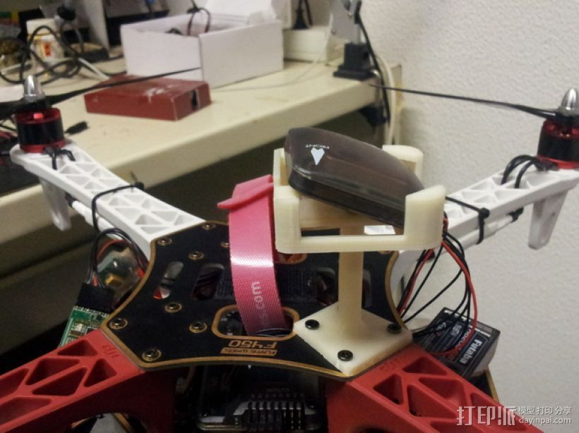 四轴飞行器 GPS模块支架 3D打印模型渲染图