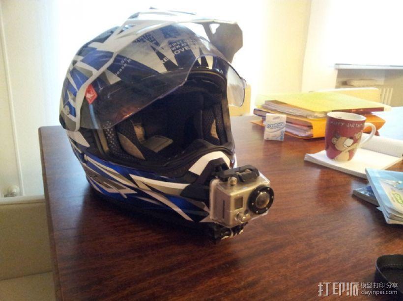 摩托车头盔 gopro相机架 3D打印模型渲染图