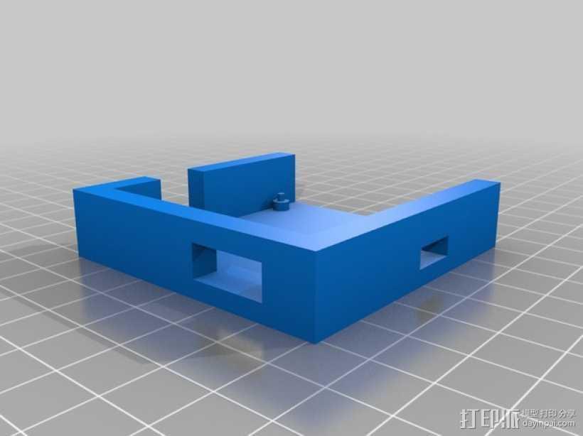 martinez电路板外壳 3D打印模型渲染图