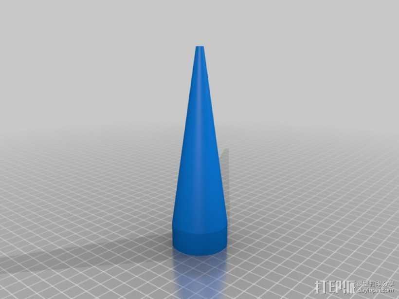 圆锥体 3D打印模型渲染图