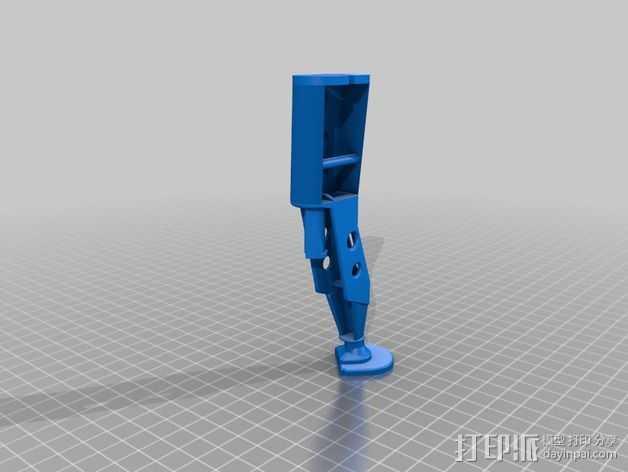 起落架延展装置 3D打印模型渲染图