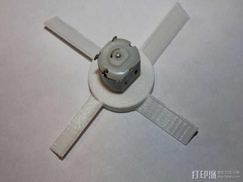 风扇叶片 3D打印模型渲染图