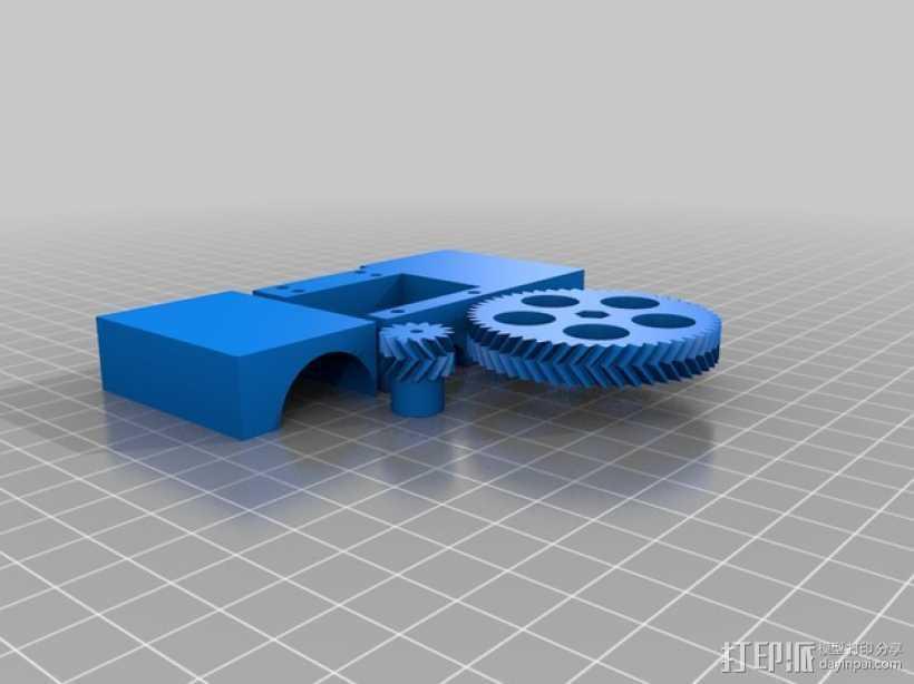 四缸发动机  3D打印模型渲染图