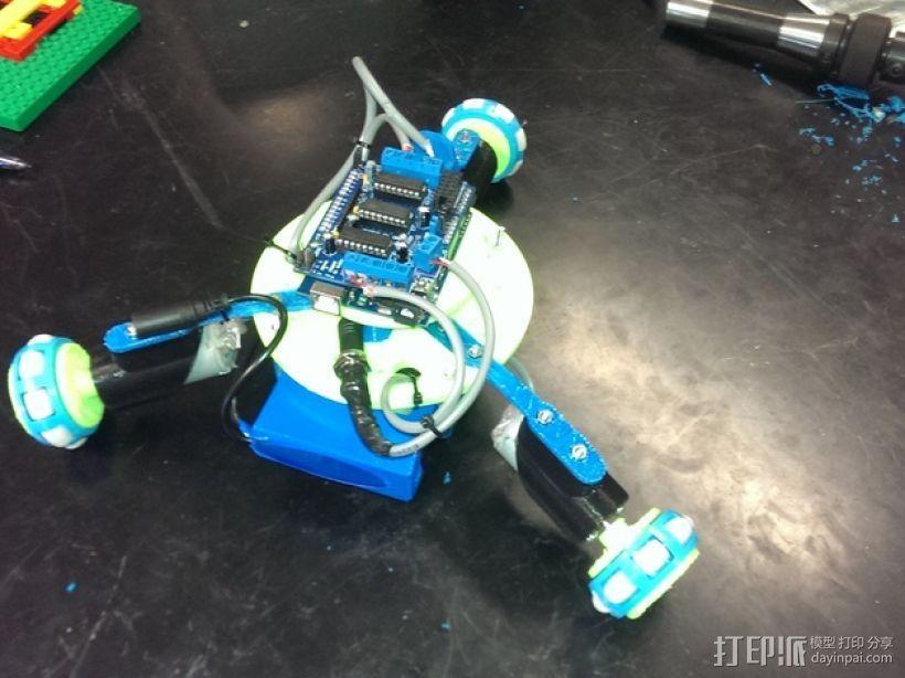 万向轮机器人 3D打印模型渲染图