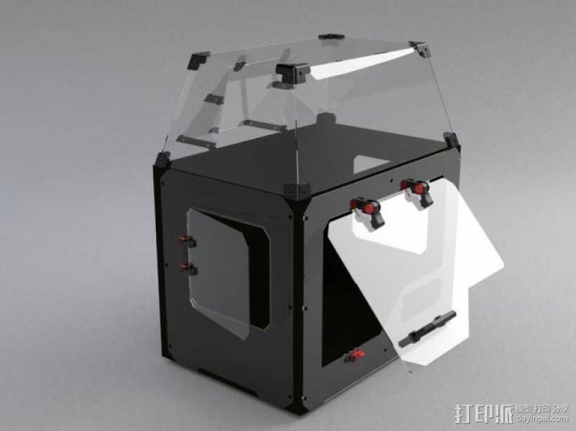 makerbot replicator2 3D打印机防尘保护罩 3D打印模型渲染图