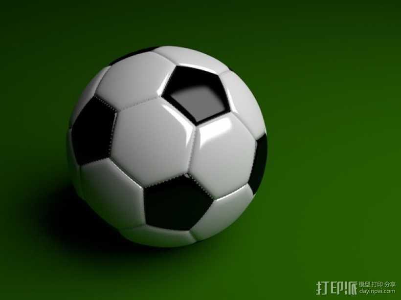 足球 3D打印模型渲染图