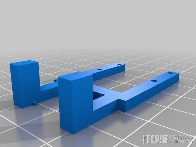 树莓派电路板支架 3D打印模型渲染图