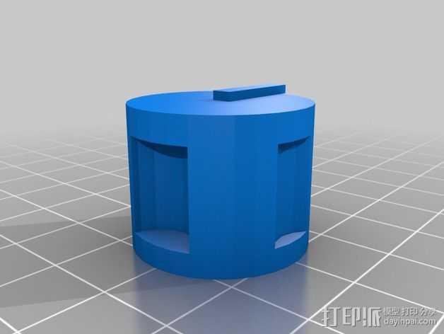 电位器旋钮 3D打印模型渲染图