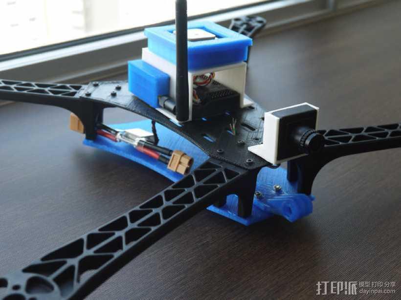 FPV相机支架 3D打印模型渲染图
