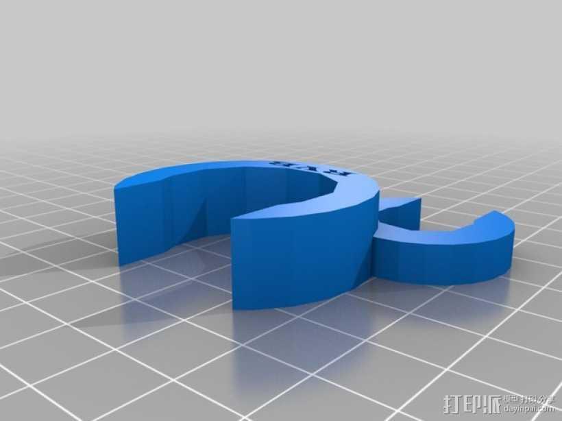 鼓槌支架 3D打印模型渲染图