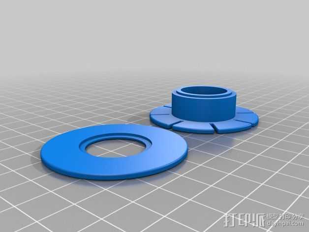钓鱼线线轴 3D打印模型渲染图