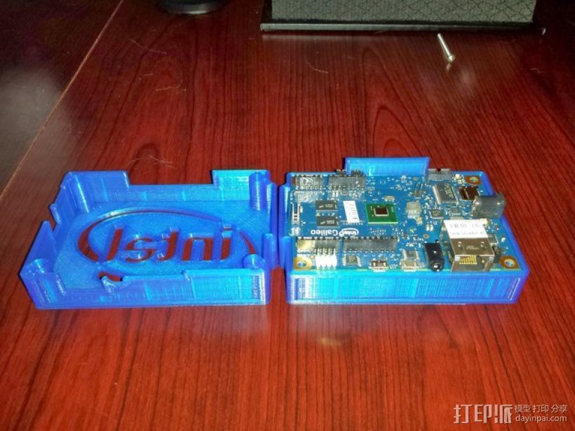 英特尔Galileo主板底座 3D打印模型渲染图