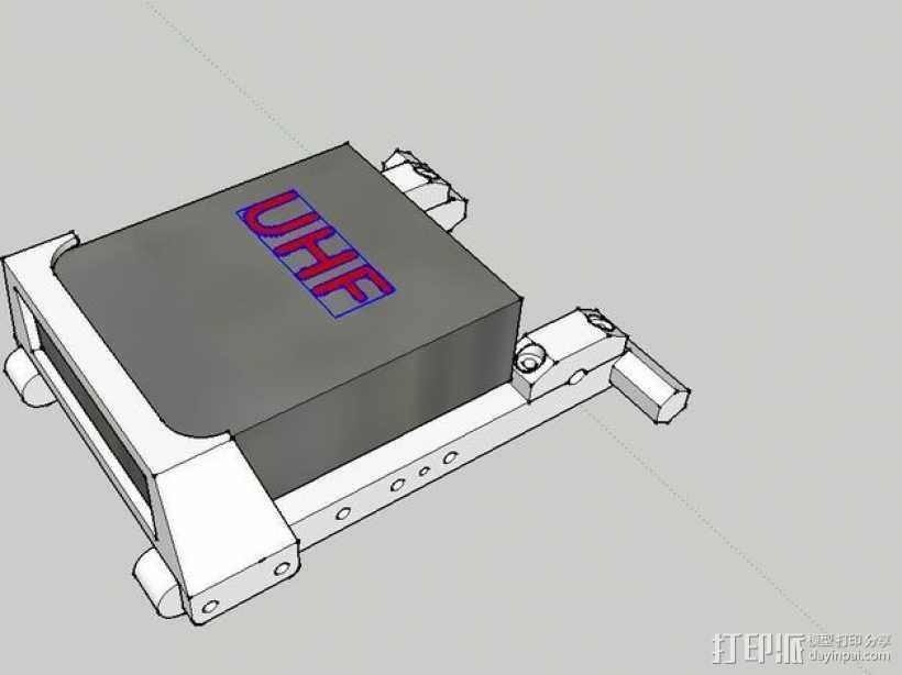 发射机底座 3D打印模型渲染图