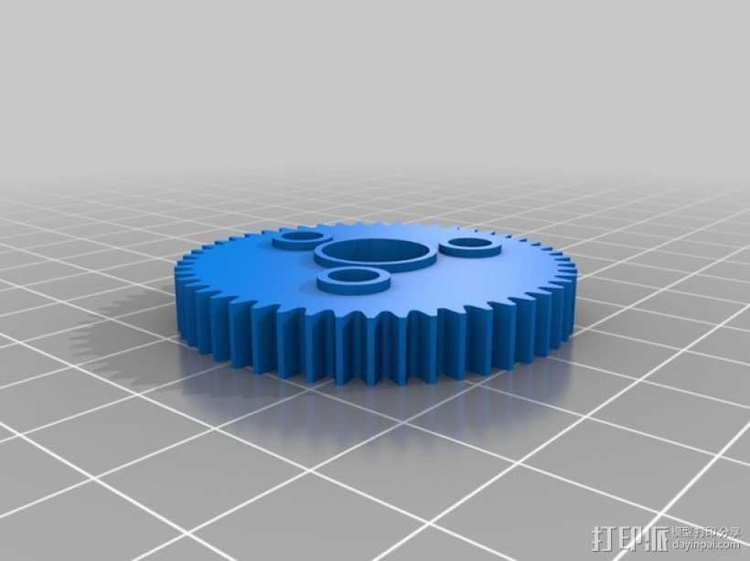 Traxxas遥控赛车 正齿轮 3D打印模型渲染图