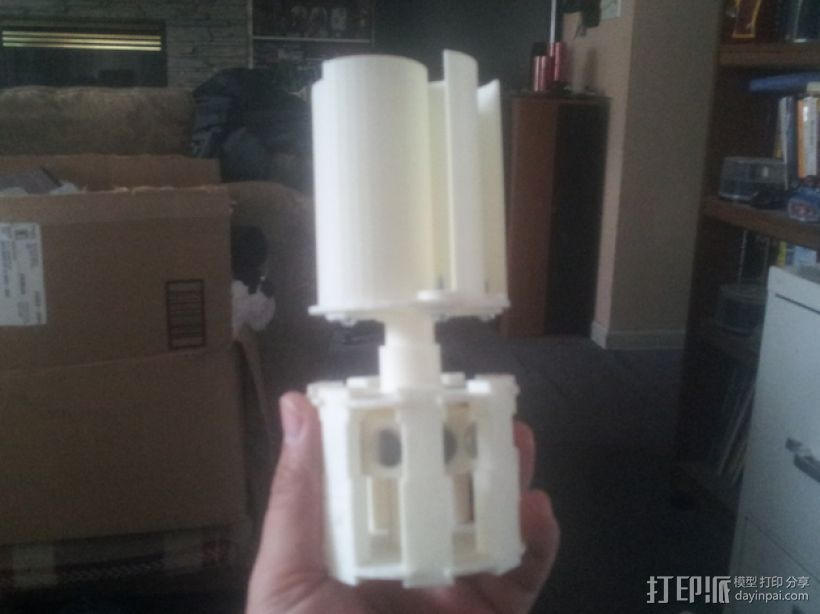 风力涡轮机 3D打印模型渲染图