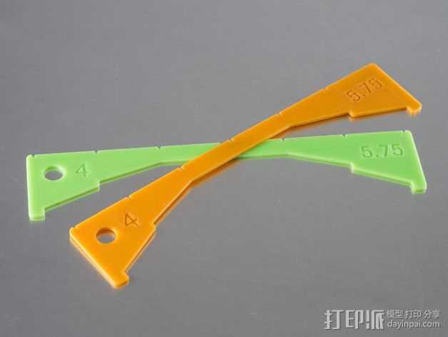 螃蟹 标尺 3D打印模型渲染图