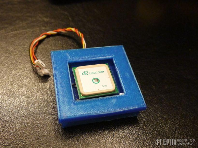Ublox Neo GPS模块外壳 3D打印模型渲染图