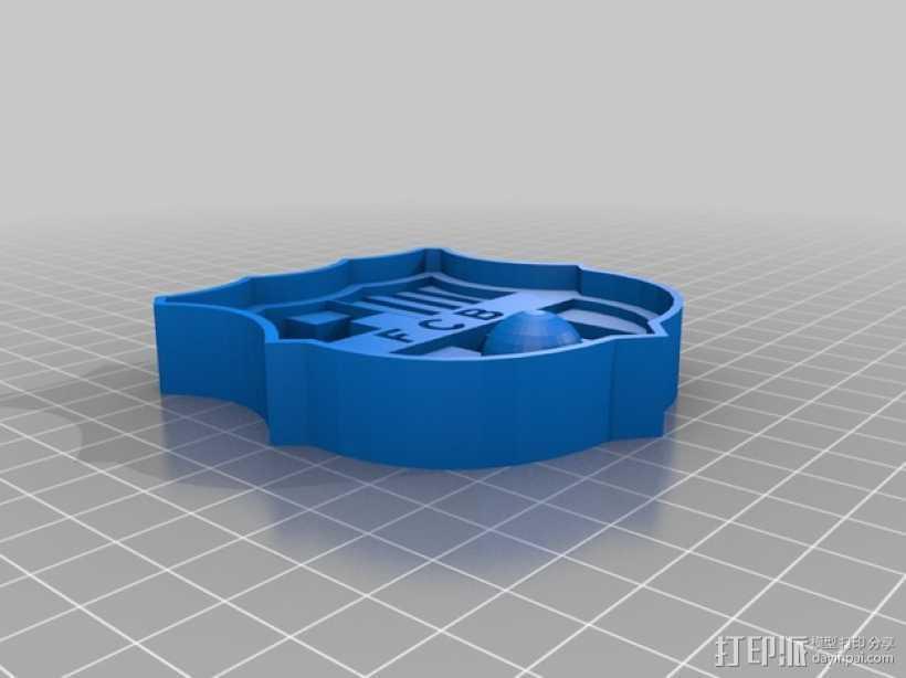 巴塞罗那足球俱乐部 标志 3D打印模型渲染图