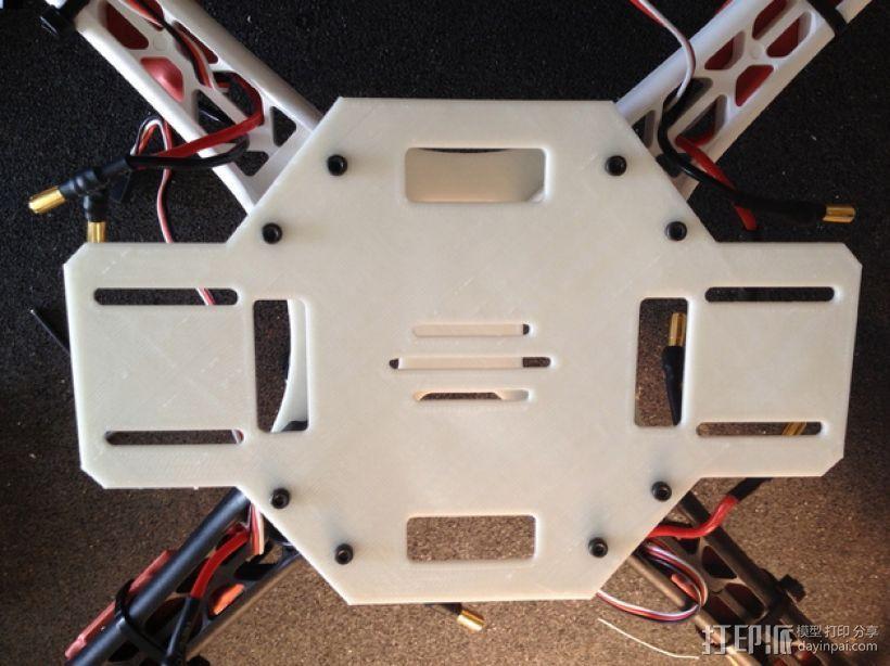 DJI F450多轴飞行器底板 3D打印模型渲染图