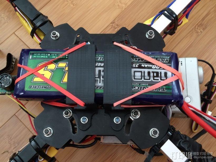 多轴飞行器 电池支架 3D打印模型渲染图