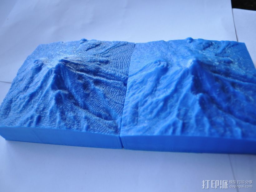 雪士达山  3D打印模型渲染图