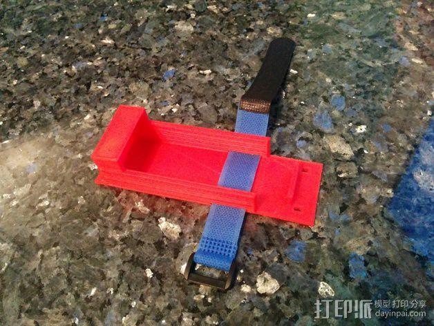 电池支座 3D打印模型渲染图