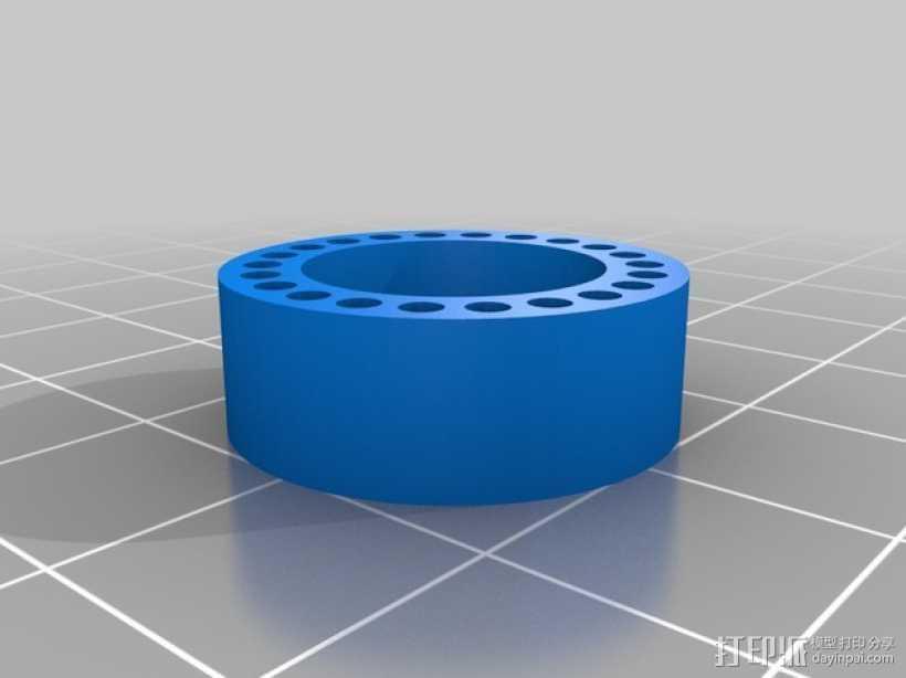 参数型管插座 3D打印模型渲染图