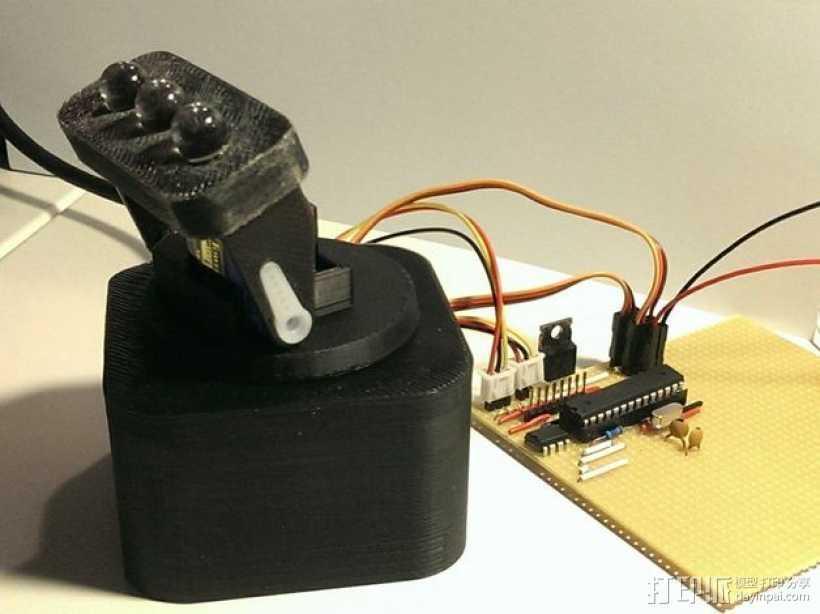 迷你LED摇头灯 3D打印模型渲染图