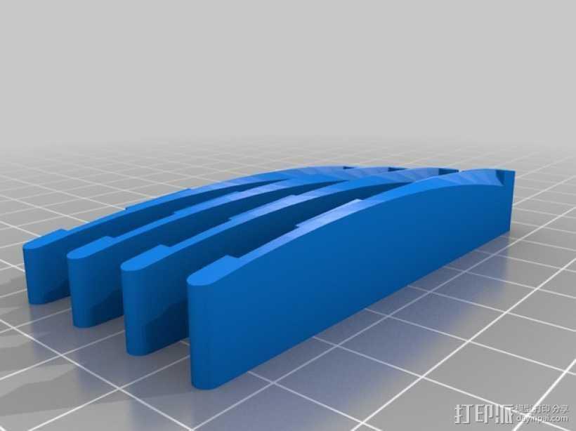原声吉他 琴桥 3D打印模型渲染图