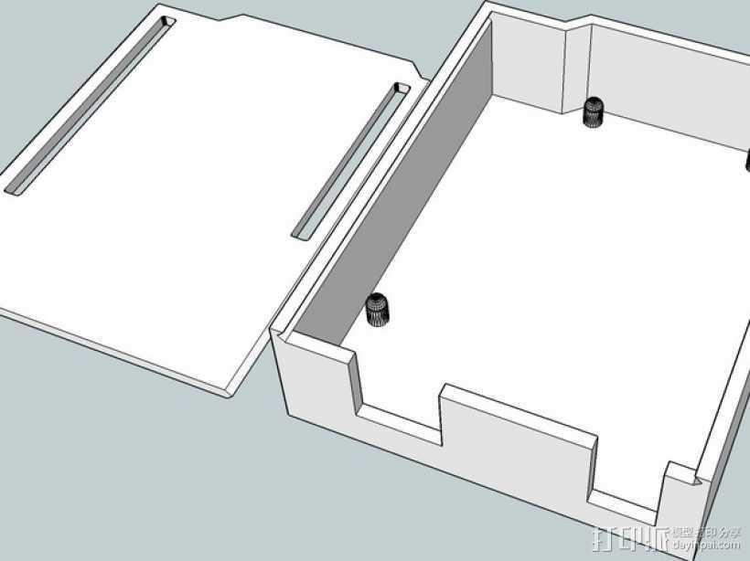 Arduino UNO电路板外壳 3D打印模型渲染图