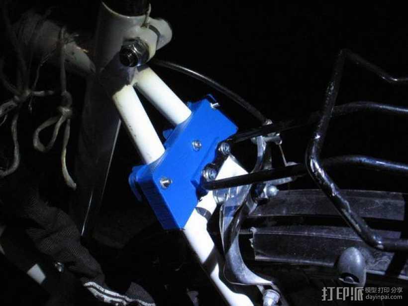 自行车行李架配适器 3D打印模型渲染图