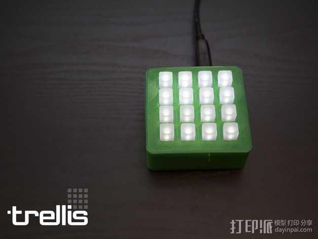LED发光板外壳 3D打印模型渲染图