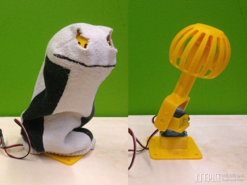 袜子木偶 3D打印模型渲染图