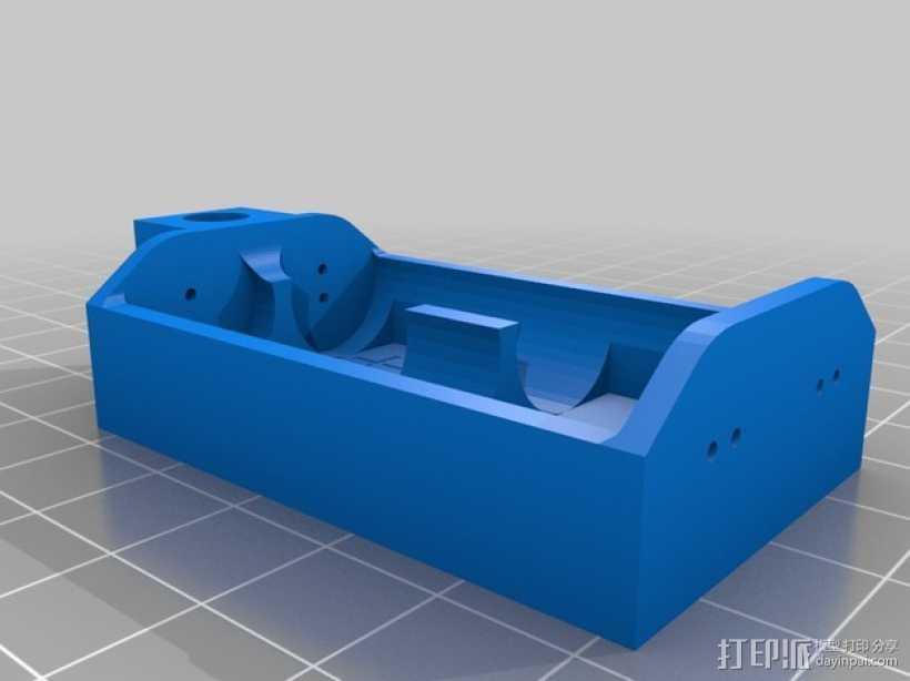 双节AA电池底座 3D打印模型渲染图