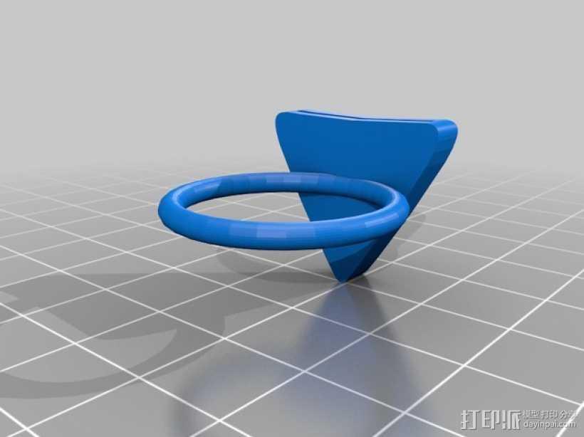 吉他拨片 指环 3D打印模型渲染图