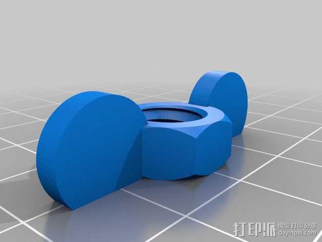 翼形螺帽  3D打印模型渲染图