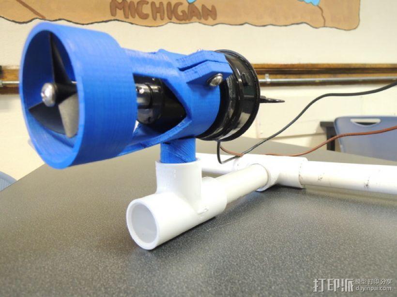 ROV污水泵支架 3D打印模型渲染图