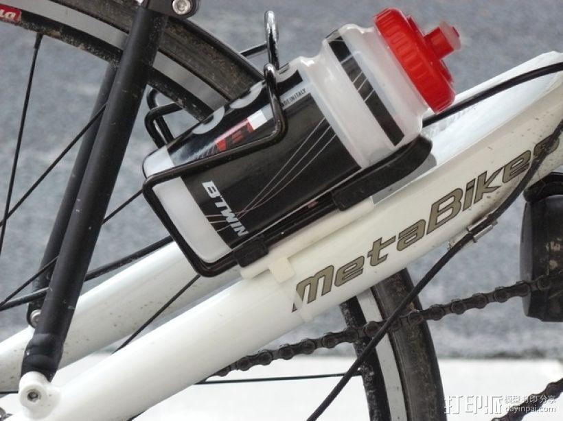 自行车水瓶架 3D打印模型渲染图