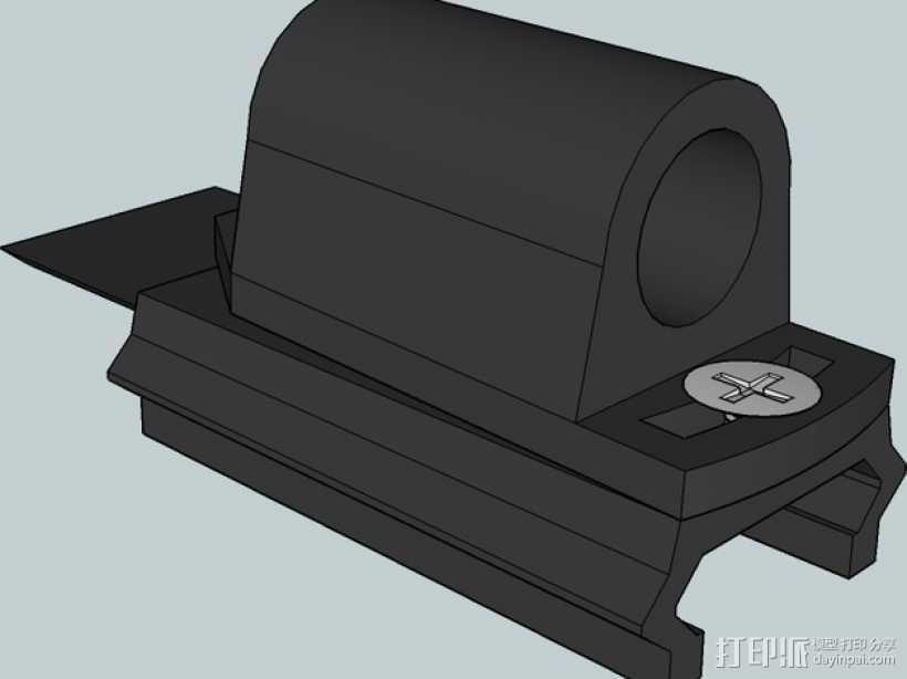 皮卡汀尼导轨  3D打印模型渲染图