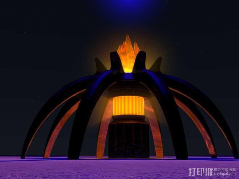 星际之门 照明灯 3D打印模型渲染图