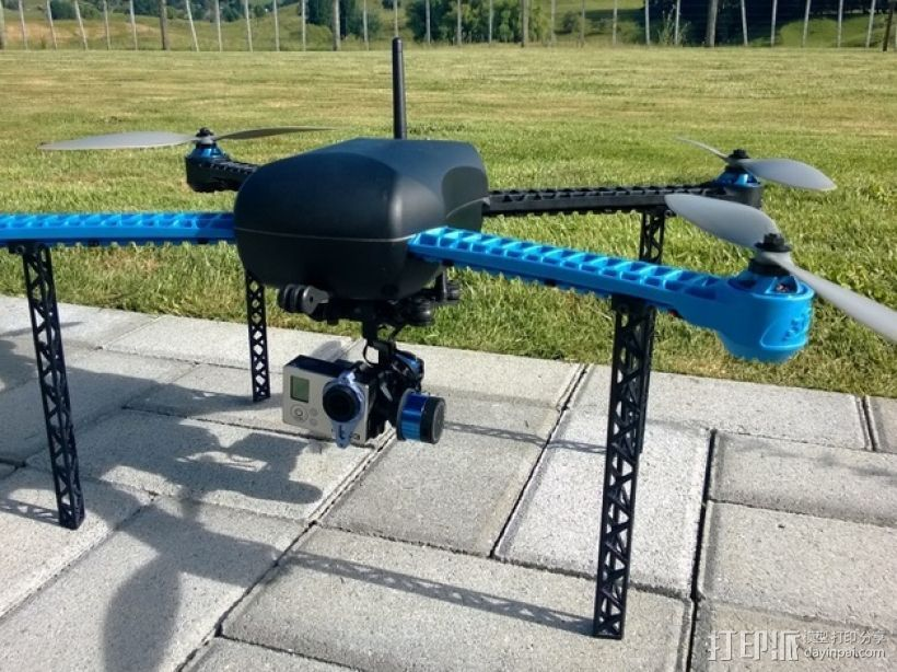 IRIS四轴飞行器支架 3D打印模型渲染图