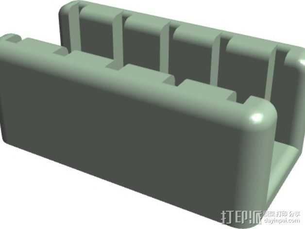 迷你SD卡支架 3D打印模型渲染图