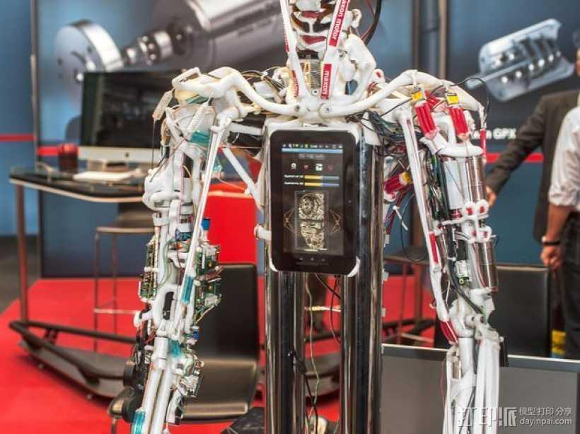 开源机器人躯干 3D打印模型渲染图