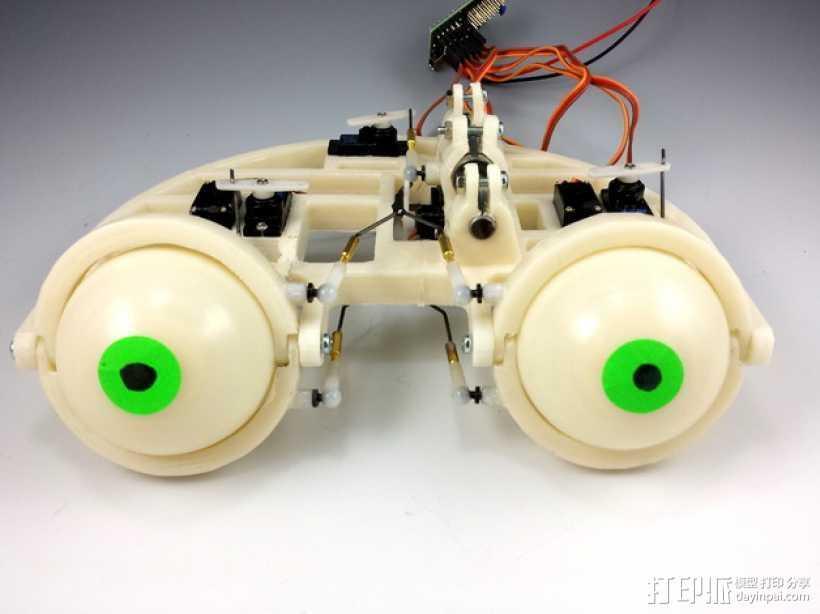 电子仿生眼球 3D打印模型渲染图