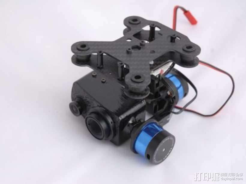 Tamarisk 320相机常平架 3D打印模型渲染图