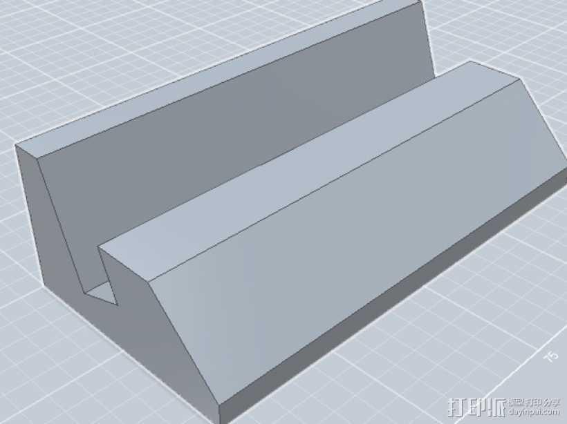 iPhone4S手机底座 3D打印模型渲染图