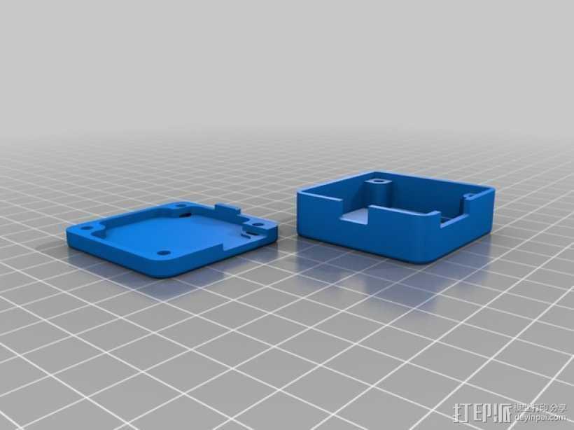 naze32多轴飞行器 飞行控制器小盒 3D打印模型渲染图