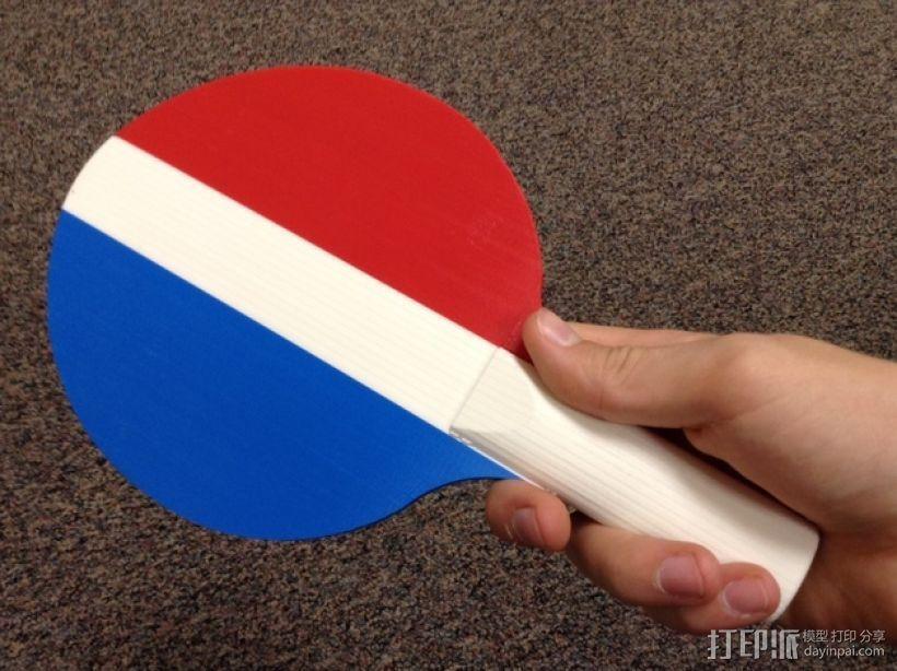 乒乓球拍  3D打印模型渲染图
