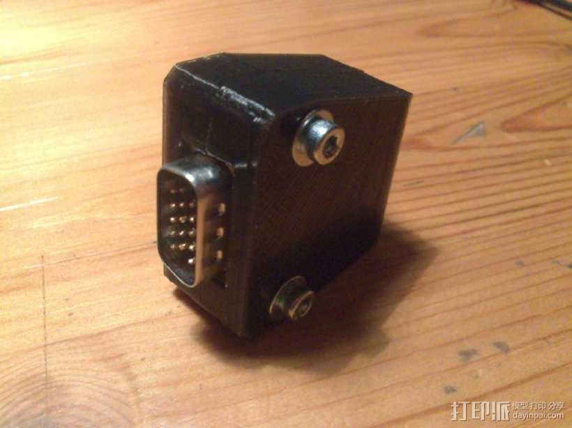 插头连接器外壳 3D打印模型渲染图